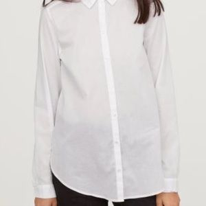 NWT H&M white button down shirt cotton size 4